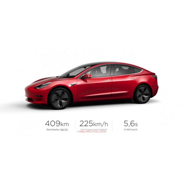 TESLA Model 3 Standard Range Plus RWD Red Multi-Coat