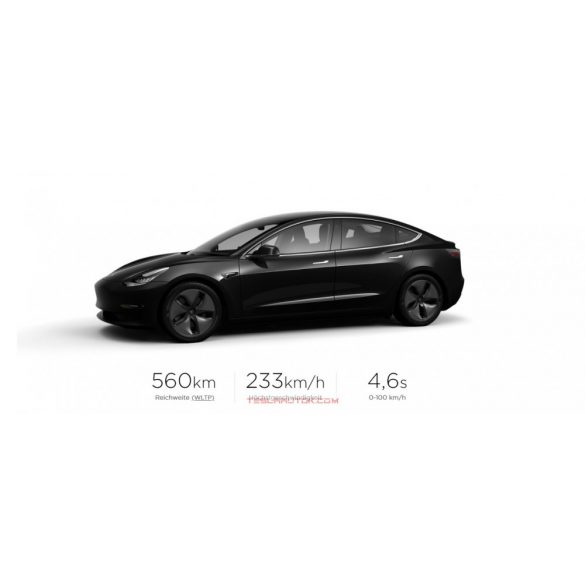TESLA Model 3 Long Range AWD Solid Black