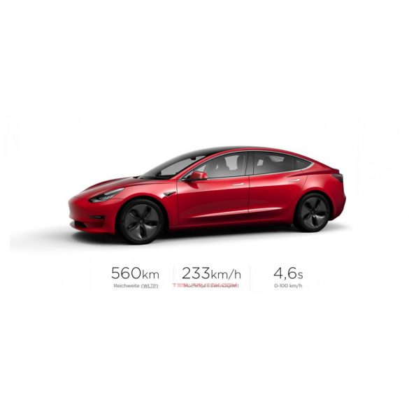 TESLA Model 3 Long Range AWD Red Multi-Coat