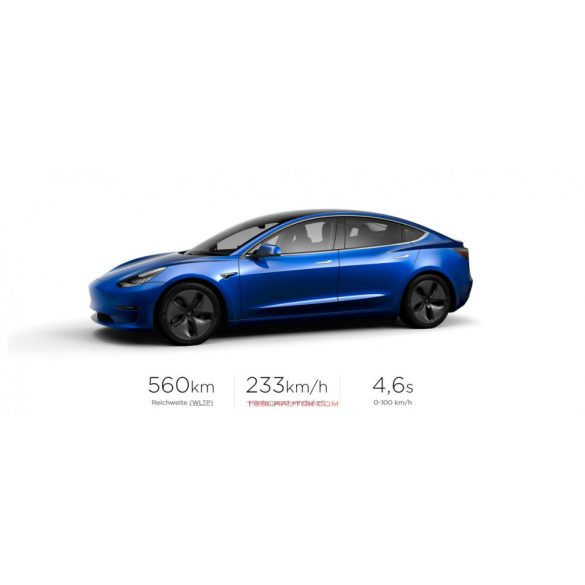 TESLA Model 3 Long Range AWD Deep Blue