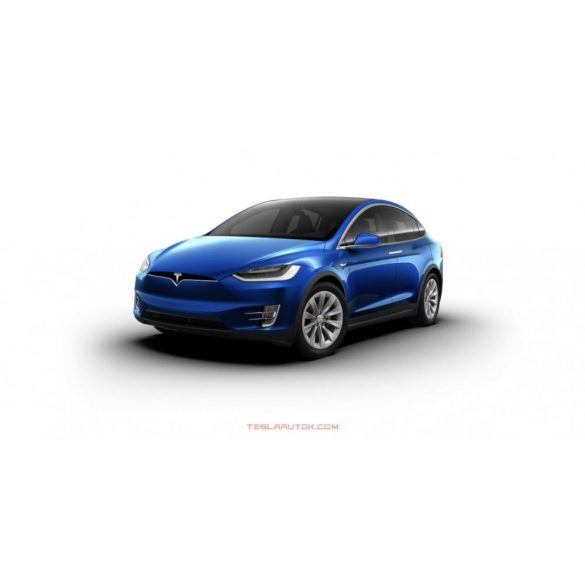 Tesla model X Long Range Deep Blue Metallic