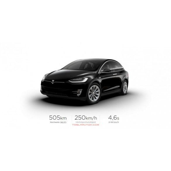 Tesla model X Long Range Solid Black